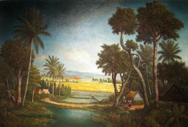 Karya lukis Wani Jaya Langit (Sumber : koleksi pribadi)