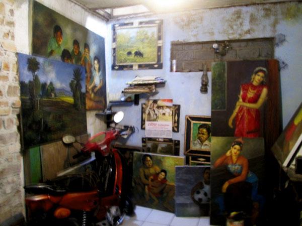 Bengkel seni Wani Jaya Langit di Cimahi